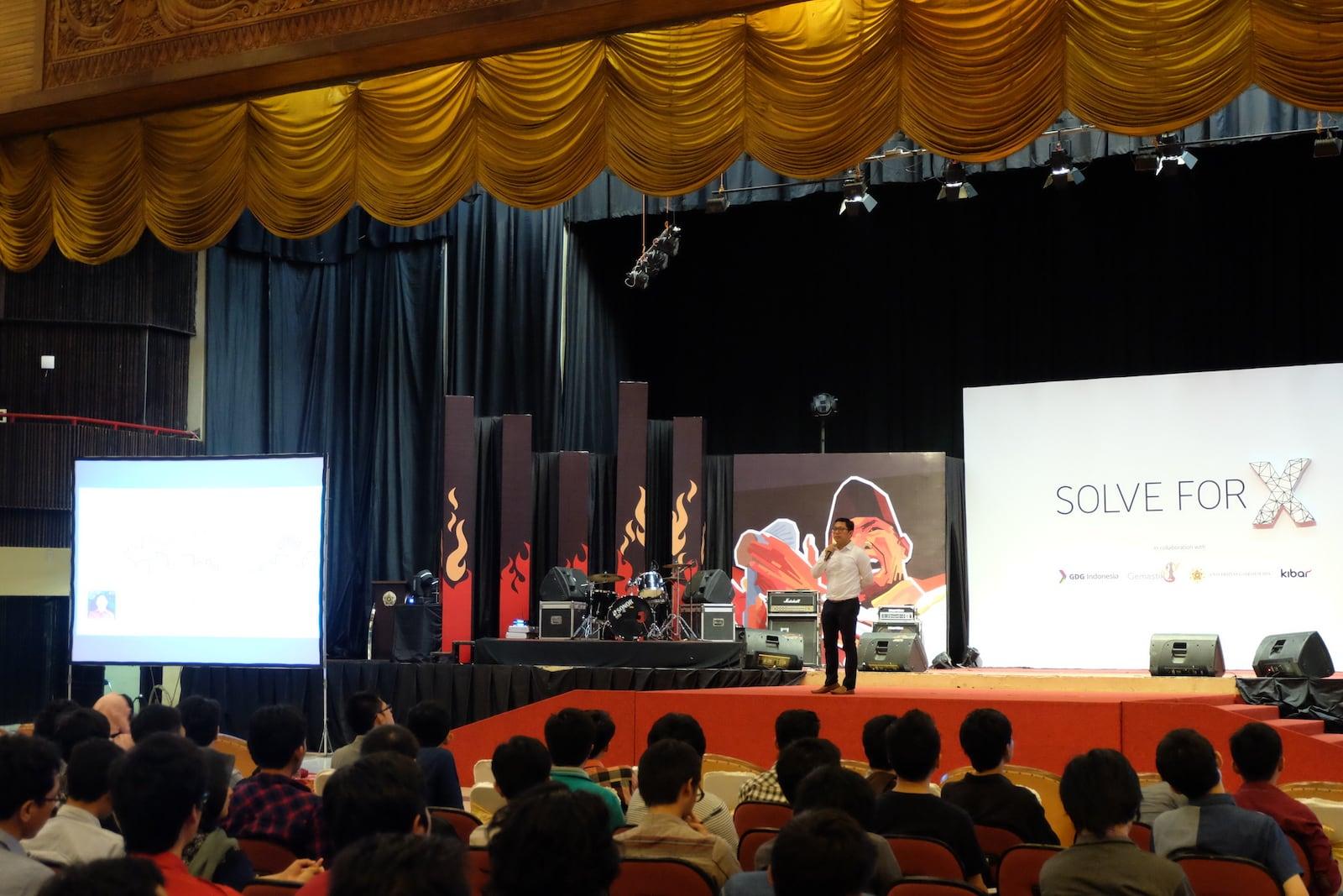 M Aditya AN menjadi Pembicara Pertama Solve for X