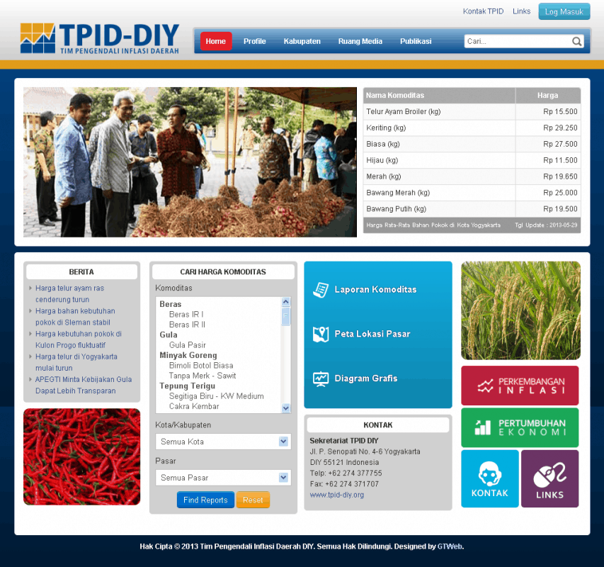 Launching Website TPID DIY