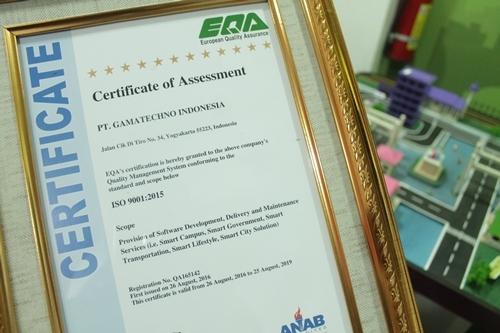 Gamatechno resmi raih ISO 9001:2015